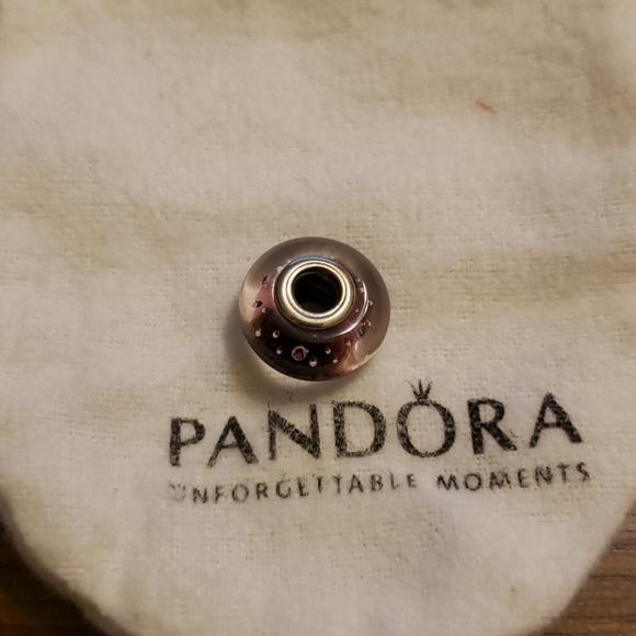 Pandora pink Murano glass charm